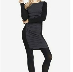 Express Colorblock Sweater Dress